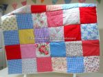 Patchwork quilt - cheery summer
